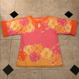 Lilly Pulitzer Tunic Beaded Top Larger Fit size S